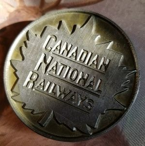 Vintage Canadian National Railways belt buckle